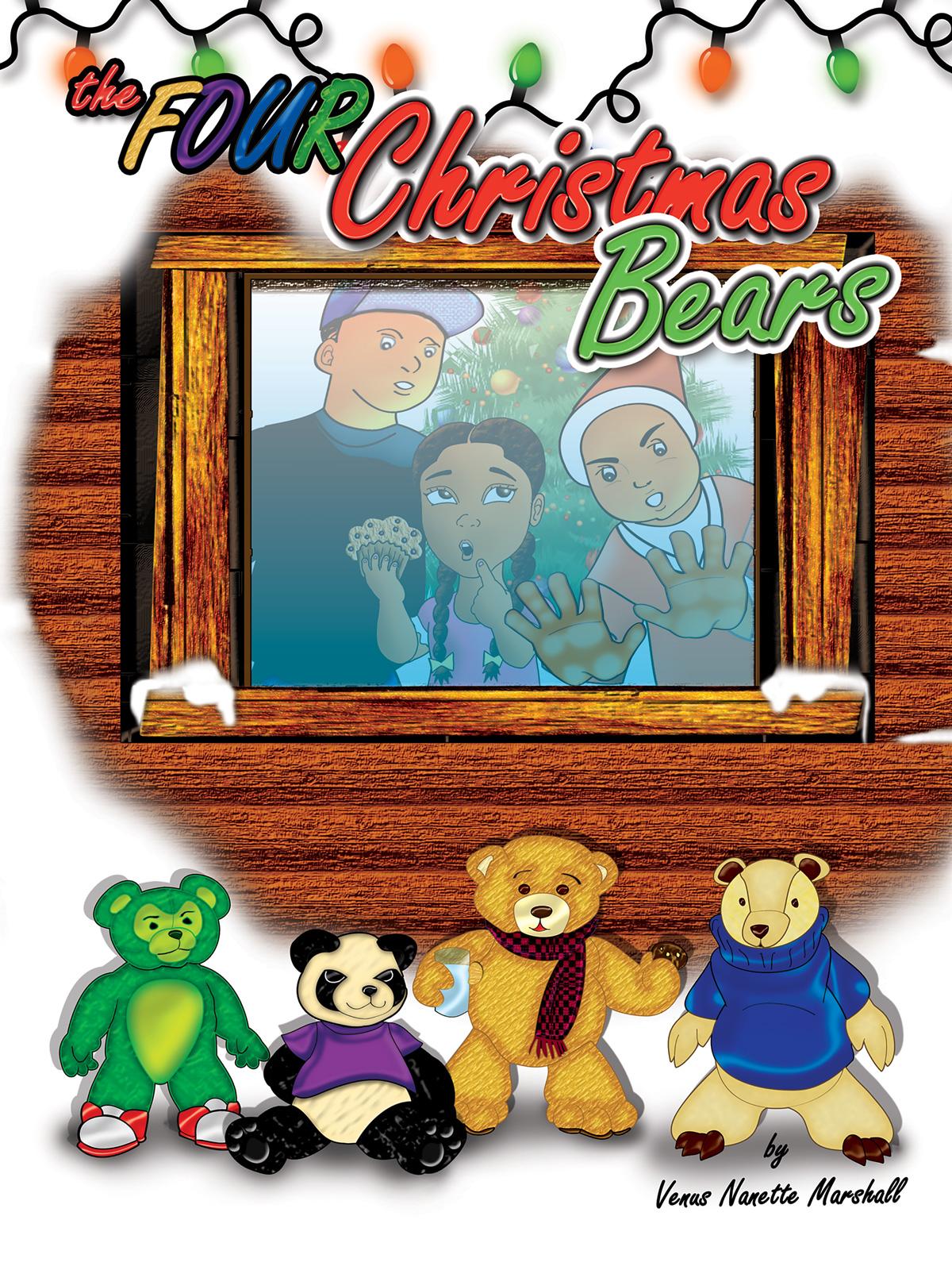 Four Christmas Bears